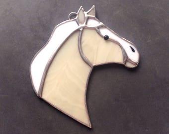 Horse decor, horse gifts, palomino horse, horse ornaments, equine decor, western ornaments, horse suncatcher, western decorations, tan horse