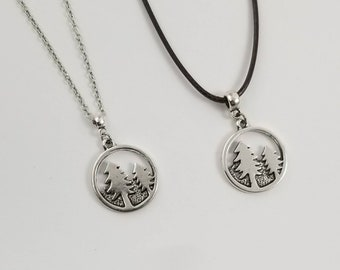 Tree Necklace, Forest Necklace, Hiker Necklace, Pine Tree Necklace, Nature Lover, Gift For Outdoors Lover, Gift For Hiker