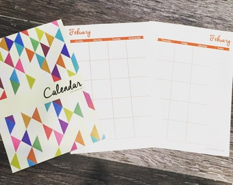 Hardcopy Blank A5 calendar