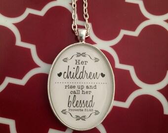 Children Call Her Blessed Pendant