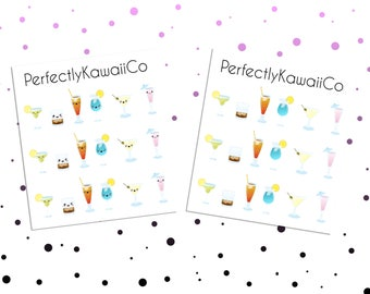 KCD30 Alcohol Stickers | Kawaii Sticker | Planner Stickers