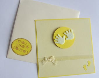 Birth congratulations card or baby shower