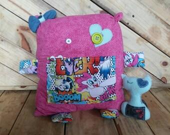 Scrap Monster - Travel Pillow - My Little Pony - Cat - Pillow Pet - Stuffed Animal - Monster Plushie - Kids Travel Pillow - Button Eyes