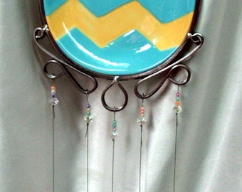 Easter Egg Decor Stained Glass Chimes