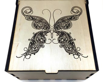 Butterfly Essential Oil Box, 25 Slot, Aromatherapy Storage Box, Essential Oil Case, Aromatherapy Oil Organizer, Essential Oil Display