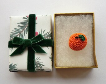 Micro crochet tangerine pdf crochet pattern - advent calendar day 16