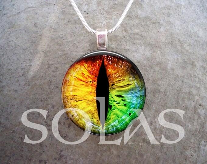 Dragon Eye Jewelry - Glass Pendant Necklace - Dragon Eye 25