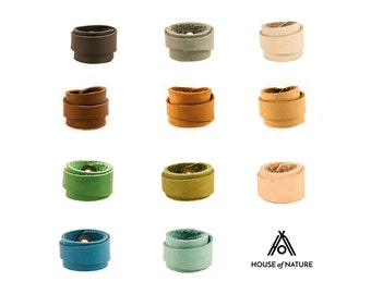 Leather Ring (+10 Colors) - Colored Leather Ring - Colourful Ring