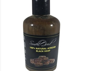 SmellGood - 8oz Liquid African Black Soap, Pack of 4