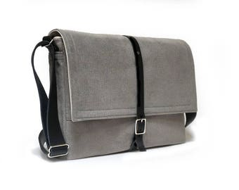 Ultimate Stash laptop messenger bag - light gray