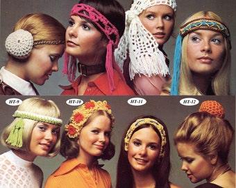Crochet Patterns, 8 Crochet Headband Patterns, Easy Crochet Headband Scarf and Snood Patterns, INSTANT Download Pattern PDF (1502)