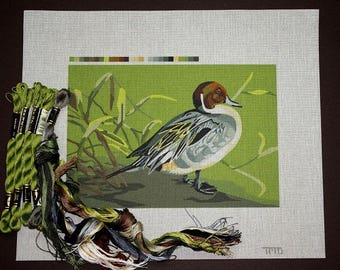 Needlepoint Ducks, Needlepoint Kits, Needlepoint Painted Canvases, Needlework Duck, Needlepoint Designs, Ducks, Pintail Duck Needlepoint Kit