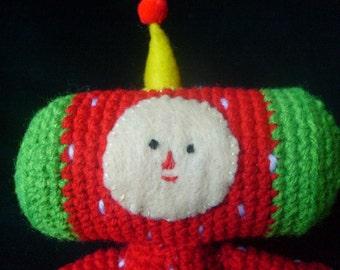 Pattern-small crocheted Katamari strawberry cousin doll
