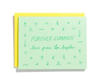 Forever Summer - Letterpress Love Card - CL237