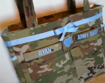 OCP Multicam camo diaper bag handmade custom travel bag shower gift for her baby gift for him