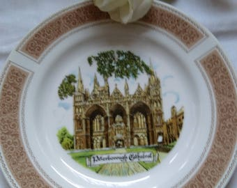 Vintage Display Plate Of Peterborough Cathedral. Goodliffe Neale Fine China