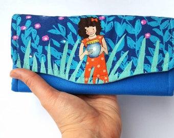 Womens Wallet, Accordion Wallet, Smartphone Wallet, Cute Wallet, Fabric Wallet, Necessary Clutch Wallet, NCW