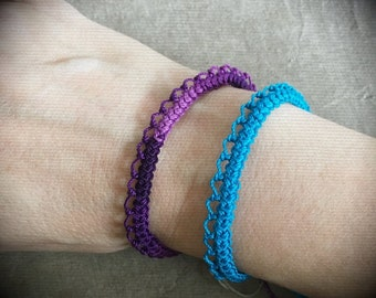 Knotted Lace Bracelet - Armenian Lace - Oya - Crochet - Simple