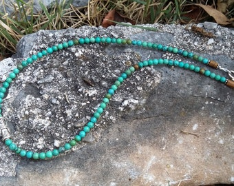 Turquoise, Tiger, eye, .925 Sterling Silver, Necklace