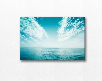 ocean photography canvas beach photography nautical decor 12x18 24x36 fine art photography seascape water large canvas art gallery wrap teal