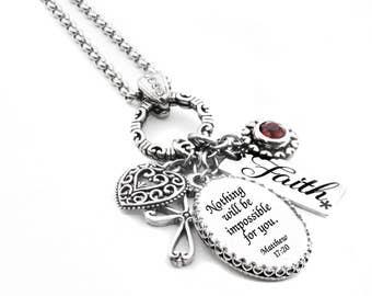 Custom Bible Verse Necklace, Inspirational Christian Jewelry, Your own verse, Christian Jewelry, Christian Necklace, Religious Jewelry