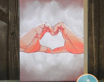 Hands and Hearts -- Anniversary / Family Love / Friendship / Love Card