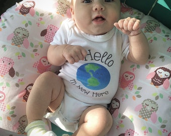 Cute baby bodysuit, Unique baby clothes, New baby gift, Planet, New Arrival, Earth Day, Conservation, Save the Earth
