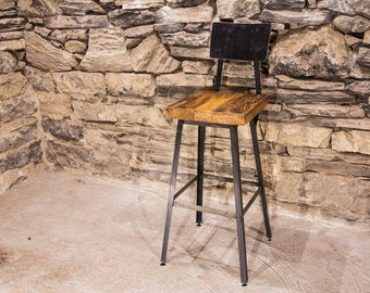 FREE SHIPPING - Brew Haus Industrial Style Bar Stools with Scooped Backs - Great for restaurants, bars and cafes!