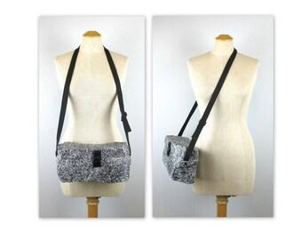 Vintage des années 80 Rock boîte sac sac à main un Menhir de l'âge de Pierre de sac à bandoulière Peco