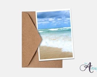 Stormy Beach Greeting Card