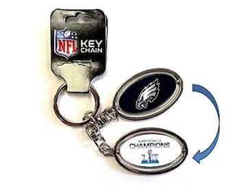 Philadelphia Eagles Super Bowl LII 52 Champions Metal Spinner Keychain