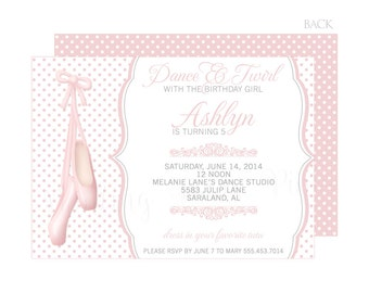 "Ballet Invitation | Printable 5"" x 7"" 