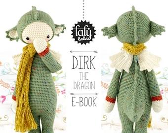 DIRK the dragon / dinosaur • lalylala crochet pattern / amigurumi