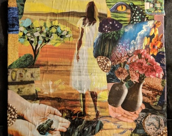"Handmade wall art collage ""Overcoming"""