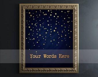 Custom Quote Print - Custom Gold Foil Print - Custom Word Art, Personalized Gift Real Foil Print, Gold Foil Print Custom Foil Print AKAFOILS