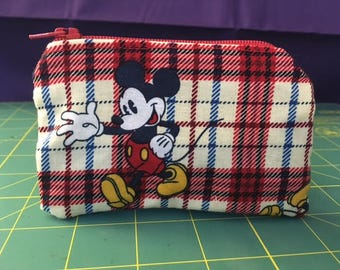 Micky Mouse Zip Pouch Coin Purse