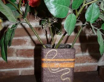 Vase made in a milk brik