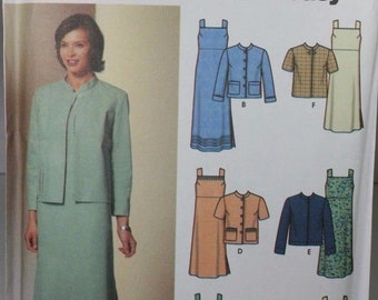 Simplicity 5677 Sewing Pattern Misses Dress Jacket Plus Size 14 16 18 20 22 Factory Folded