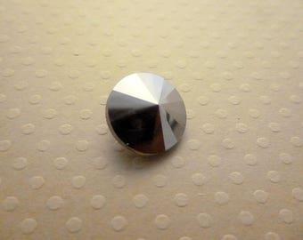 Rivoli 14 mm - 1591 CAB silver glass cabochon