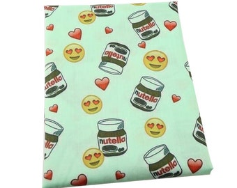 nutella poliester and cotton print