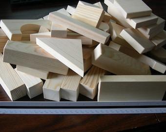 Children's Toy Blocks  Unfinished Pine/Fir  Min of 92 pcs