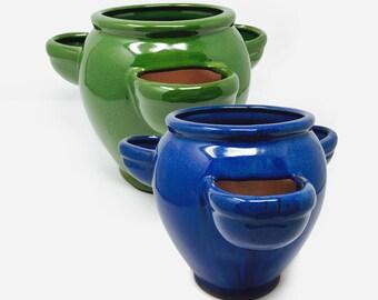 Mini Ceramic Strawberry Pot Planter