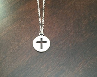 cross necklace, cross pendant, cross jewelry, silver cross necklace, cross, silver cross, religious necklace, religious jewelry, necklace
