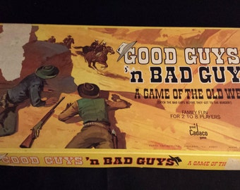 Vintage 1973 Cadaco, Good Guys 'n Bad Guys: A Game of the Old West - NEARLY COMPLETE