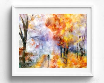 Original painting, abstract painting, original art, original watercolor, watercolor painting, landscape painting, original artwork, colorful