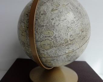 Vintage Original REPLOGLE Moon Globe - LeRoy M. Tolman Cartograher - USA c.1960's