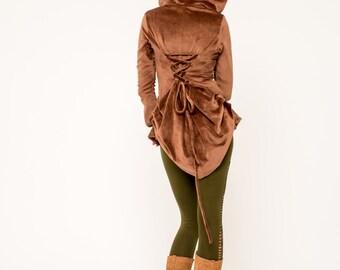 Steampunk Coat- Velvet Coat- Fairy Coat- Victorian Jacket- Renaissance