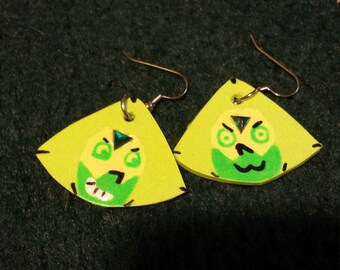 Peridot Steven Universe Earrings