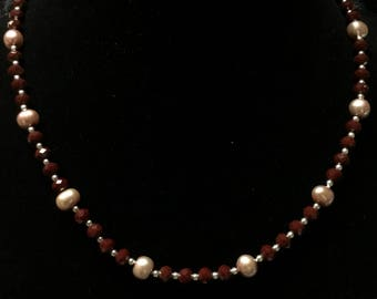 Pearl And Ruby Necklace