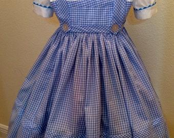 Girls Wizard of Oz inspired Dorothy Costume / Sizes 3T-14 / Halloween / Birthday / Dress Up / Trunk